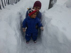 Snow as high as Avery