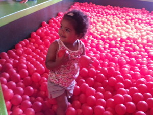 Avery loved the ball pit.